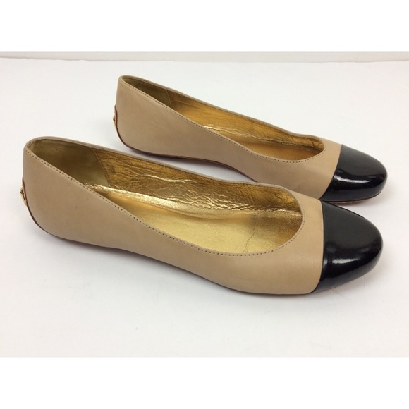 4eb052b6285bc kate spade Shoes - Kate Spade Terry Leather Cap Toe Flats